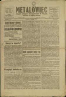 Metalowiec : organ Związku Metalowców w Polsce, 1920, Nry 5/6-7/8