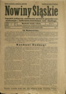 Nowiny Śląskie, 1930, Nry 1-3, 5, 8, 21-22, 25, 29-33, 35-36