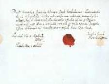 Korespondencja różnych osób z 5.09.1824 r.