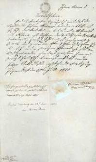 Korespondencja różnych osób z 29.07.1825 r.