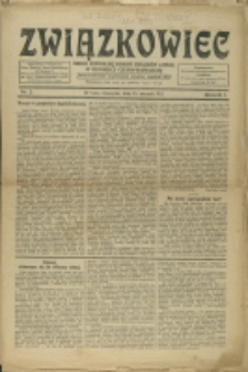 Związkowiec, 1921, Nry 2-3, 5-6, 8-10, 13-18, 20
