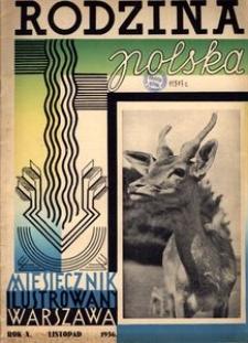 Rodzina Polska : miesięcznik ilustrowany, 1936, R.10, Nr 11 - listopad