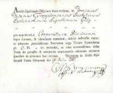 Korespondencja różnych osób z 9.07.1781 r.