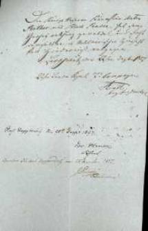 Korespondencja różnych osób z 28.10.1827 r.