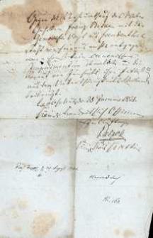 Korespondencja różnych osób z 30.08.1831 r.