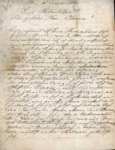 Korespondencja różnych osób z 10.12.1883 r.