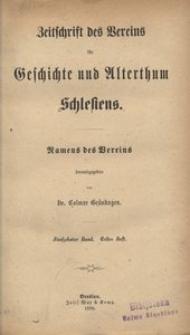 Zeitschrift des Vereins für Geschichte und Alterthum Schlesiens, 1880, Bd. 15, H. 1