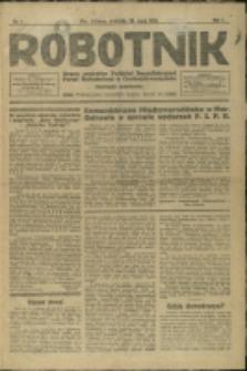 Robotnik : organ Polskiej Socyalistycznej Partyi Robotniczej w Czechosłowaczyźnie, 1921, Nry 1-7