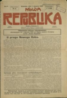 Nowa Republika, 1925, Nr 1