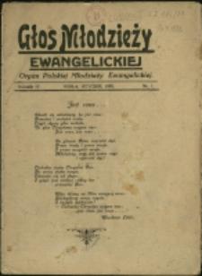 Głos Młodzieży Ewangelickiej, 1935, Nr 1