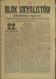 Blok Socyalistów, 1930, Nr z 4 listopada