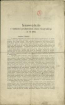 Sprawozdanie z Czynności Prezbyterstwa Zboru Cieszyńskiego za Rok 1902