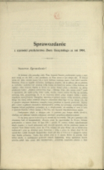 Sprawozdanie z Czynności Prezbyterstwa Zboru Cieszyńskiego za Rok 1904