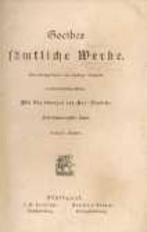 Goethes sämtliche Werke.