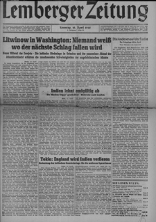 Lemberger Zeitung, Jhg. 4 1942, Folge 86
