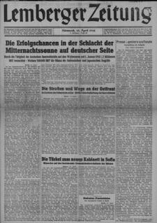 Lemberger Zeitung, Jhg. 4 1942, Folge 88