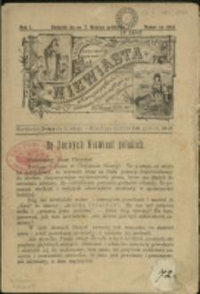 """Niewiasta : [dod. do """"Wieńca Polskiego], 1896, Nr na okaz, Nry 2-8"""
