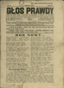 Głos Prawdy, 1934, Nry 1, 3, 6-7/8, 11