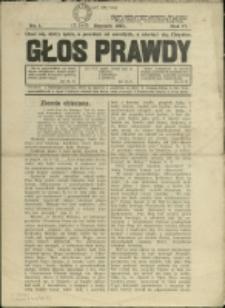 Głos Prawdy, 1935, Nry 1-4, 7/8-9