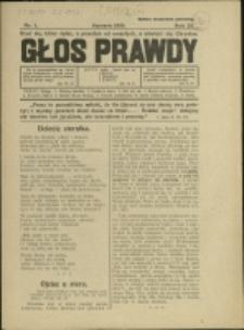Głos Prawdy, 1939, Nry 1-2