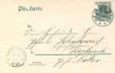 Karta pocztowa z Nysy do Opawicy. 08.05.1904 r.