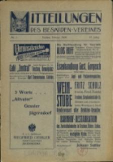 Mitteilungen des Beskidenvereins, 1909, 1,3, 5-6