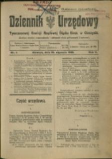 Dziennik Urzędowy Tymczasowej Komisyi Rządowej Śląska Cieszyńskiego, 1922, Nry 1-8