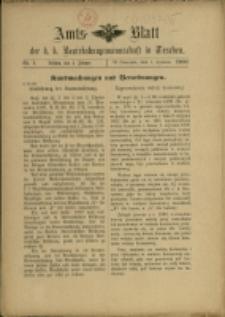 Amts-Blatt der k. k. Bezirkshauptmannschaft in Teschen, 1900, Nry 1-13