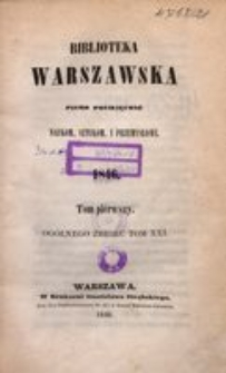 Biblioteka Warszawska, 1846, T. 1