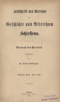 Zeitschrift des Vereins für Geschichte und Alterthum Schlesiens, 1881, Bd. 15, H. 2