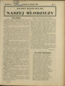 Głosy Kościelne do Naszej Młodzieży, 1928, Nry 1-12
