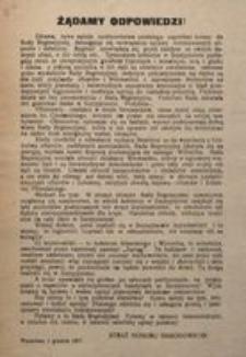 Żądamy Odpowiedzi! Warszawa, 5 grudnia 1917.