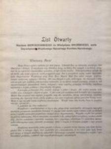 List Otwarty Wacława Sieroszewskiego do Władysława Sikorskiego, szefa Departamentu Wojskowego Naczelnego Komitetu Narodowego. W Warszawie, 24 listopada roku 1916