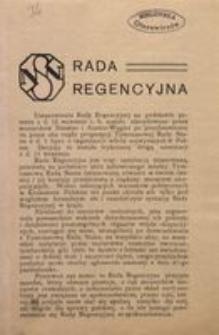 Rada Regencyjna. Warszawa, listopad 1917.
