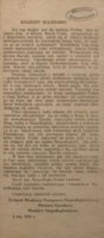 Koledzy! Koleżanki! 3 maj 1916 r. Związek Młodzieży Postępowo-Niepodległościowej. Młodzież Narodowa. Młodzież Niepodległościowa.