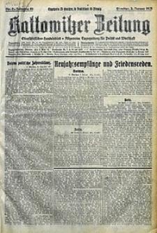 Kattowitzer Zeitung, 1928, Jg. 60, nr2