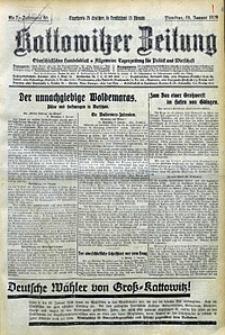 Kattowitzer Zeitung, 1928, Jg. 60, nr7