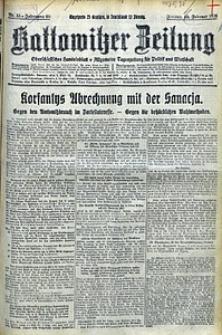 Kattowitzer Zeitung, 1928, Jg. 60, nr33