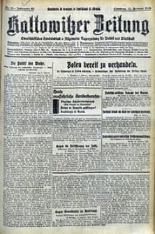 Kattowitzer Zeitung, 1928, Jg. 60, nr35