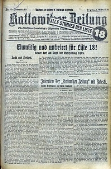 Kattowitzer Zeitung, 1928, Jg. 60, nr53