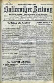 Kattowitzer Zeitung, 1928, Jg. 60, nr62