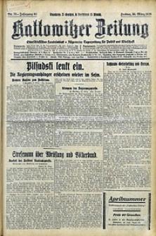 Kattowitzer Zeitung, 1928, Jg. 60, nr75