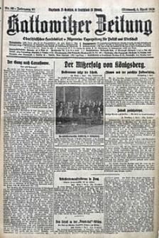 Kattowitzer Zeitung, 1928, Jg. 60, nr80