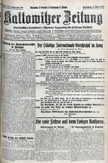 Kattowitzer Zeitung, 1928, Jg. 60, nr102
