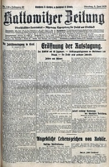Kattowitzer Zeitung, 1928, Jg. 60, nr129