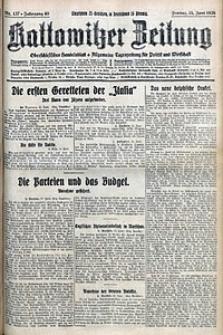 Kattowitzer Zeitung, 1928, Jg. 60, nr137