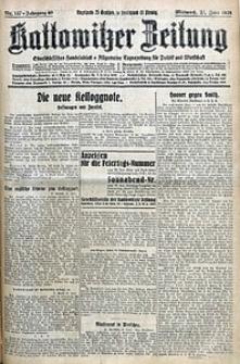 Kattowitzer Zeitung, 1928, Jg. 60, nr147