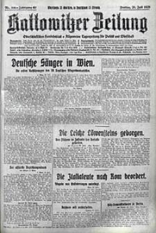 Kattowitzer Zeitung, 1928, Jg. 60, nr166
