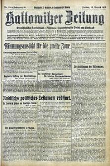 Kattowitzer Zeitung, 1928, Jg. 60, nr184