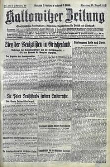 Kattowitzer Zeitung, 1928, Jg. 60, nr192